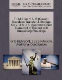 T I M E Inc v. U S (Case): Davidson Transfer & Storage Co v. U S U.S. Supreme Court Transcri...