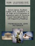 Buford James, Southern Dairies, et al., Appellants, v. A. W. Todd, as Commissioner of Agricu...