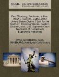 Paul Ginsburg, Petitioner, v. Hon. Philip L. Sullivan, Judge of the United States District C...