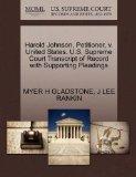 Harold Johnson, Petitioner, v. United States. U.S. Supreme Court Transcript of Record with S...