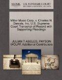 Miller Music Corp. v. Charles N. Daniels, Inc. U.S. Supreme Court Transcript of Record with ...