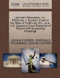 Liebmann Breweries, Inc., Petitioner, v. Superior Court of the State of California, Etc., et...