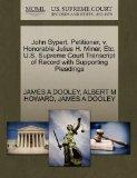 John Sypert, Petitioner, v. Honorable Julius H. Miner, Etc. U.S. Supreme Court Transcript of...