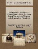 Tenny Ross, Petitioner, v. United States. U.S. Supreme Court Transcript of Record with Suppo...