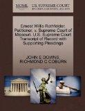 Ernest Willis Rothfelder, Petitioner, v. Supreme Court of Missouri. U.S. Supreme Court Trans...