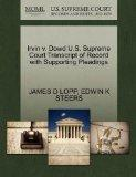 Irvin v. Dowd U.S. Supreme Court Transcript of Record with Supporting Pleadings