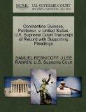 Constantine Guiness, Petitioner, v. United States. U.S. Supreme Court Transcript of Record w...