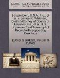 Bargaintown, U.S.A., Inc., et al. v. James R. Whitman, District Attorney of County of Lebano...