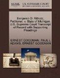 Benjamin D. Ritholz, Petitioner, v. State of Michigan. U.S. Supreme Court Transcript of Reco...
