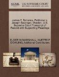 James F. Torrance, Petitioner v. Joseph Salzinger, Warden. U.S. Supreme Court Transcript of ...