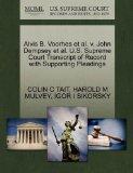 Alvis B. Voorhes et al. v. John Dempsey et al. U.S. Supreme Court Transcript of Record with ...