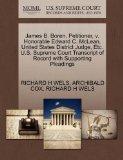 James B. Boren, Petitioner, v. Honorable Edward C. McLean, United States District Judge, Etc...
