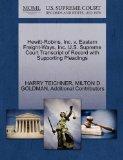 Hewitt-Robins, Inc. v. Eastern Freight-Ways, Inc. U.S. Supreme Court Transcript of Record wi...