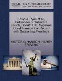 Kevin J. Ryan et al., Petitioners, v. William J. Hirsch, Sheriff. U.S. Supreme Court Transcr...