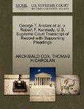 George T. Aratani et al. v. Robert F. Kennedy. U.S. Supreme Court Transcript of Record with ...
