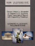 Groves (Helen) v. Alexander (J. Deaver) U.S. Supreme Court Transcript of Record with Support...