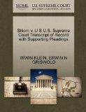 Shlom v. U S U.S. Supreme Court Transcript of Record with Supporting Pleadings