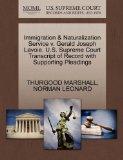 Immigration & Naturalization Service v. Gerald Joseph Lavoie. U.S. Supreme Court Transcript ...
