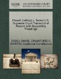 Powell (LeRoy) v. Texas U.S. Supreme Court Transcript of Record with Supporting Pleadings