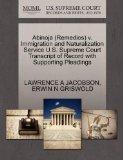 Abinoja (Remedios) v. Immigration and Naturalization Service U.S. Supreme Court Transcript o...
