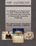 Confederation Life Association v. Vega Y Arminan (Manuel) U.S. Supreme Court Transcript of R...