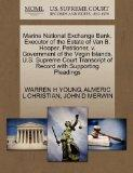 Marine National Exchange Bank, Executor of the Estate of Van B. Hooper, Petitioner, v. Gover...