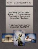 Binkowski (Don) v. Miller (Edna) U.S. Supreme Court Transcript of Record with Supporting Ple...