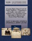 Arizona State Department of Public Welfare v. Department of Health, Education and Welfare U....