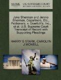 Jake Sherman and Jennie Sherman, Copartners, Etc., Petitioners, v. Goerlich's, Inc., et al. ...
