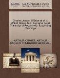 Charles Joseph O'Brien et al. v. United States. U.S. Supreme Court Transcript of Record with...