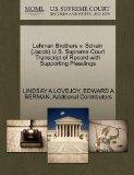 Lehman Brothers v. Schein (Jacob) U.S. Supreme Court Transcript of Record with Supporting Pl...