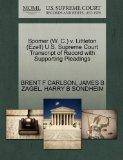 Spomer (W. C.) v. Littleton (Ezell) U.S. Supreme Court Transcript of Record with Supporting ...