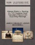 Albergo (Emilio) v. Reading Co. U.S. Supreme Court Transcript of Record with Supporting Plea...