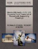 Makris (Michael) v. U.S. U.S. Supreme Court Transcript of Record with Supporting Pleadings