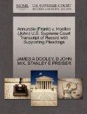 Annunzio (Frank) v. Hoellen (John) U.S. Supreme Court Transcript of Record with Supporting P...