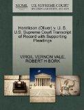 Henrikson (Oliver) v. U. S. U.S. Supreme Court Transcript of Record with Supporting Pleadings