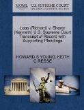 Leas (Richard) v. Sherer (Kenneth) U.S. Supreme Court Transcript of Record with Supporting P...