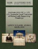 Harrison (John M.) v. U.S. U.S. Supreme Court Transcript of Record with Supporting Pleadings