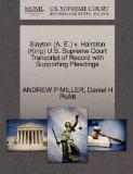 Slayton (A. E.) v. Hairston (King) U.S. Supreme Court Transcript of Record with Supporting P...