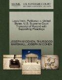 Louis Irwin, Petitioner, v. United States. U.S. Supreme Court Transcript of Record with Supp...