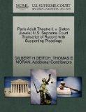 Paris Adult Theatre I, v. Slaton (Lewis) U.S. Supreme Court Transcript of Record with Suppor...
