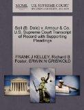 Ball (B. Dale) v. Armour & Co. U.S. Supreme Court Transcript of Record with Supporting Plead...