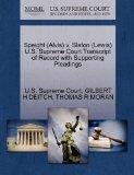 Speight (Alvis) v. Slaton (Lewis) U.S. Supreme Court Transcript of Record with Supporting Pl...