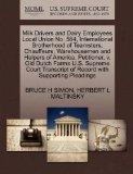 Milk Drivers and Dairy Employees Local Union No. 584, International Brotherhood of Teamsters...