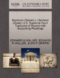 Maraman (Susan) v. Hardister (Grady) U.S. Supreme Court Transcript of Record with Supporting...