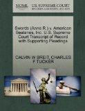 Swords (Anne R.) v. American Sealanes, Inc. U.S. Supreme Court Transcript of Record with Sup...