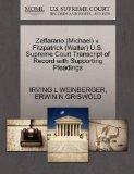 Zaffarano (Michael) v. Fitzpatrick (Walter) U.S. Supreme Court Transcript of Record with Sup...