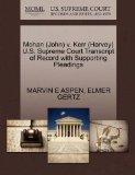 Mohan (John) v. Kerr (Harvey) U.S. Supreme Court Transcript of Record with Supporting Pleadings