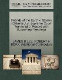 Friends of the Earth v. Stamm (Gilbert) U.S. Supreme Court Transcript of Record with Support...
