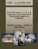 Poeta (Eduardo) v. U. S. U.S. Supreme Court Transcript of Record with Supporting Pleadings